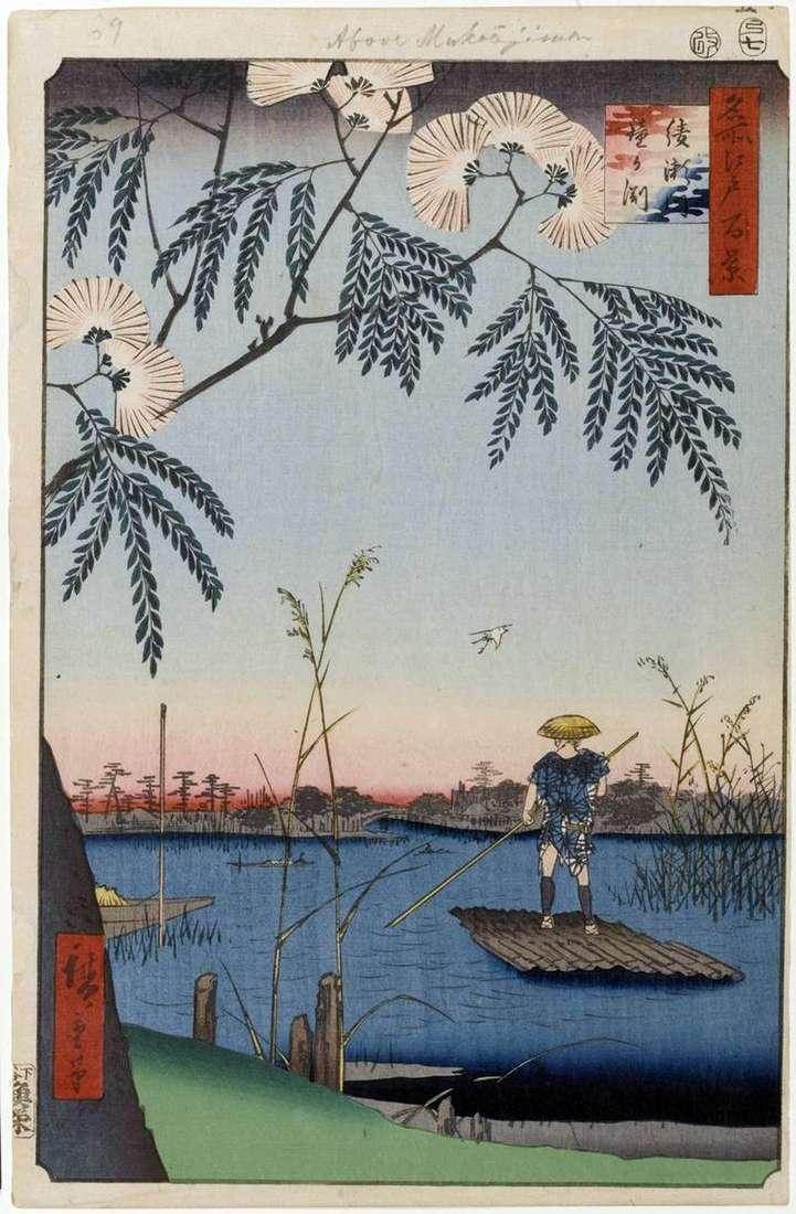Rzeka Ayasegawa, The Bellied Reservoir   Utagawa Hiroshige