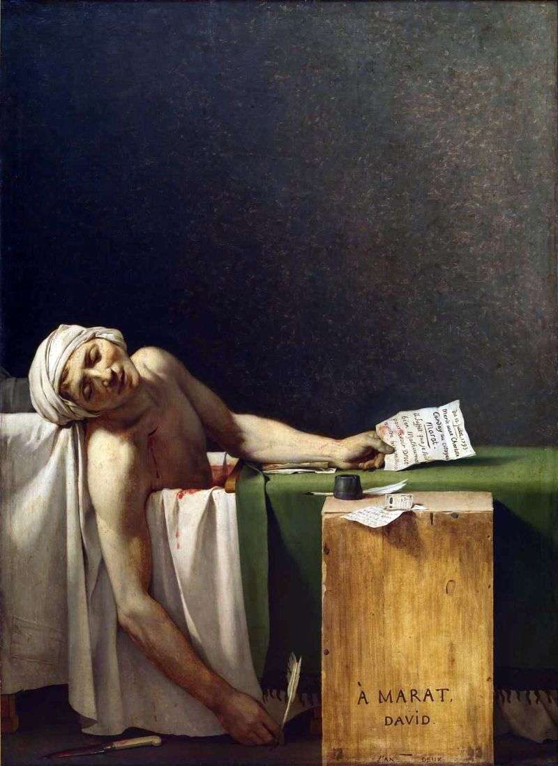Śmierć Marata   Jacques Louis David