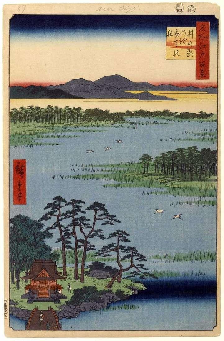 Świątynia Benten w Inokashira no ike Pond   Utagawa Hiroshige