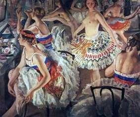 W garderobie baletowej (Wielkie Baleriny)   Zinaida Serebryakova