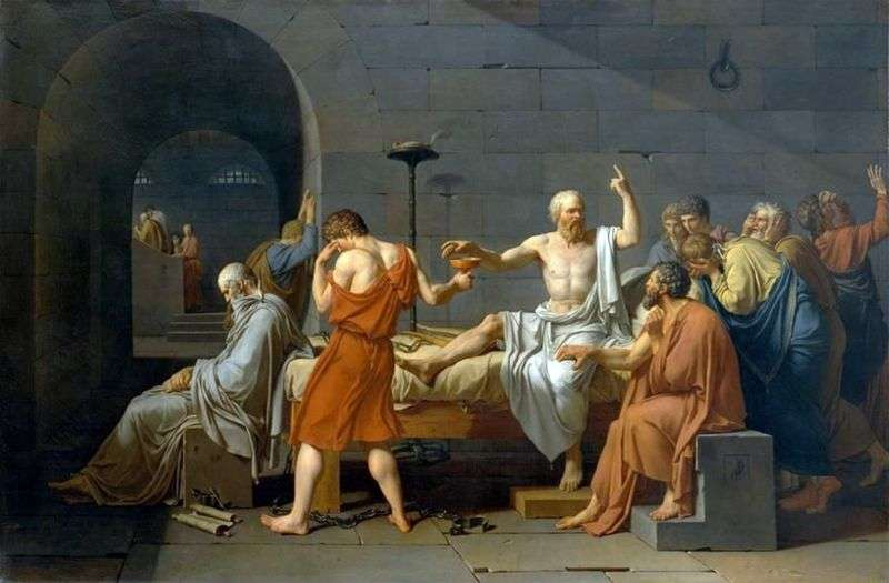Śmierć Sokratesa   Jacques Louis David