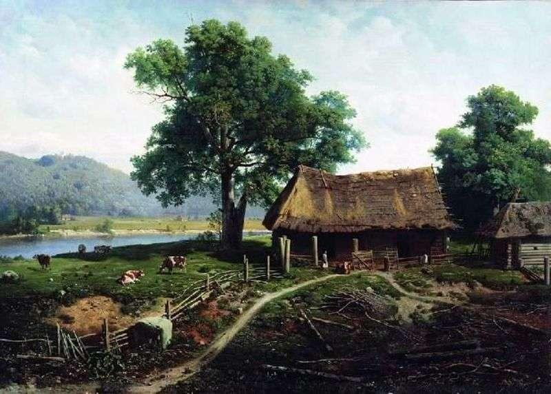Widok na wyspę Valaam   Michael Klodt