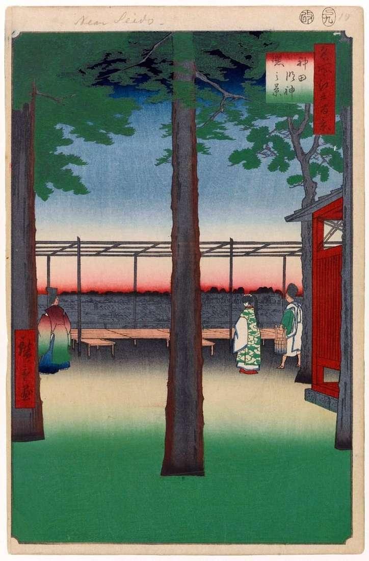 Kanda Mingjin Shrine at Dawn   Utagawa Hiroshige