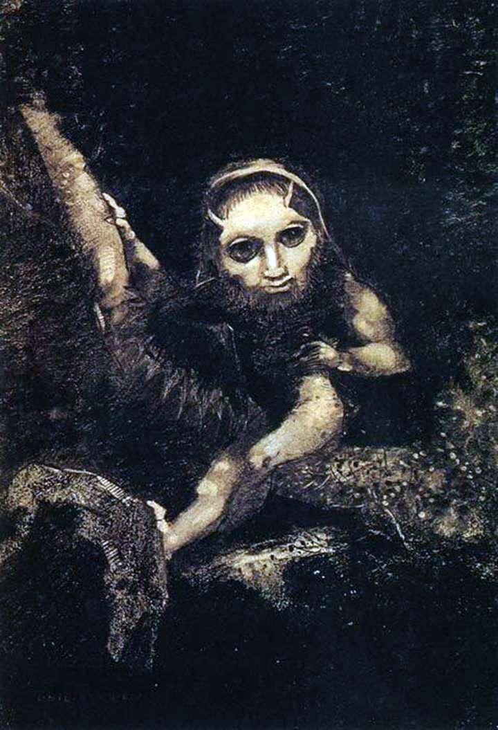 Elf Caliban   Odilon Redon