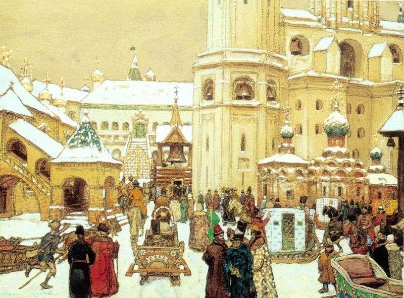 Ivan wielki plac na Kremlu. XVII wiek   Apolinary Wasnikow