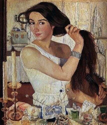 Do toalety. Autoportret   Zinaida Serebryakova