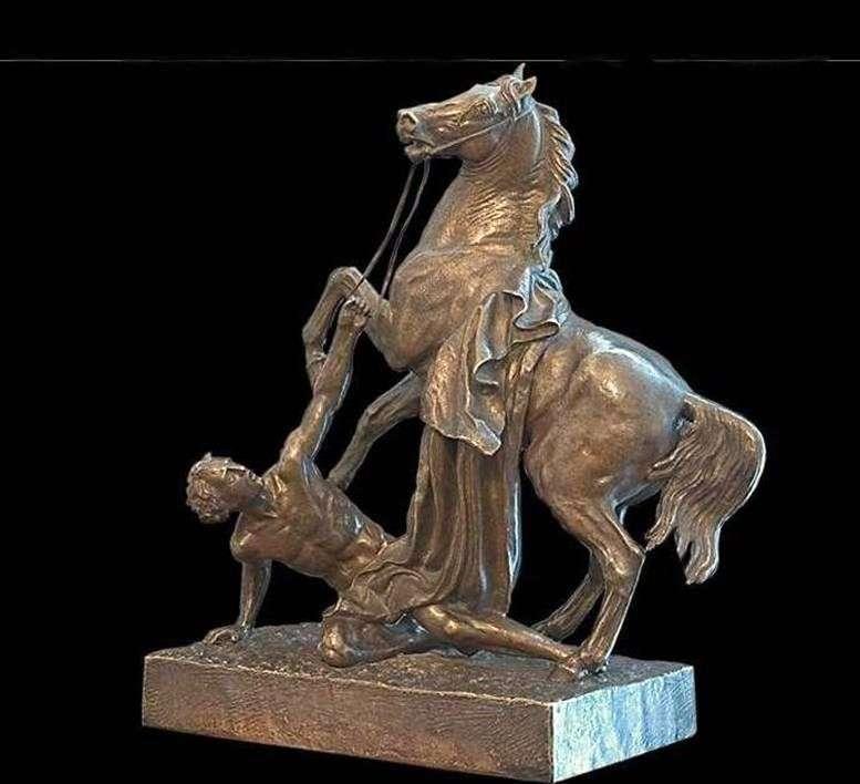 Koń i Vodnichim   Peter Klodt