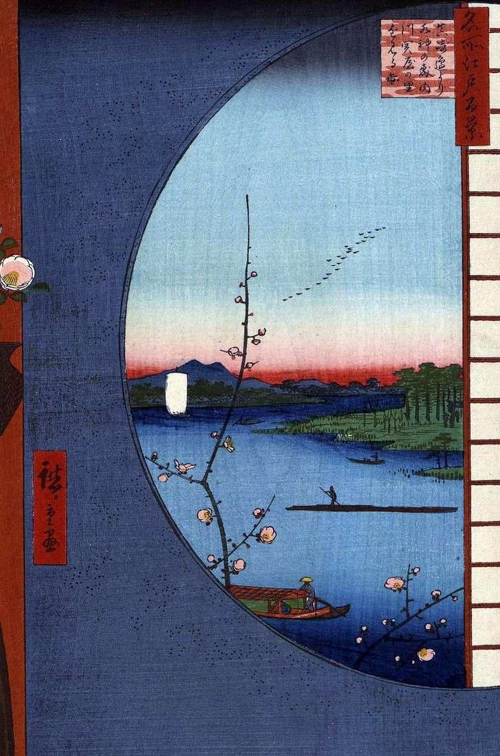 Kapliczka Masaki nad rzeką Utigava, wioska Sekiya no Sato i świątynia Suilzin no Mori