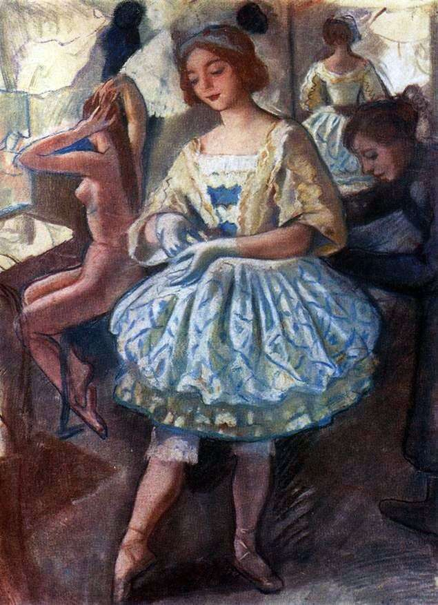 Portret baleriny E. A. Svekis w stroju baletowym Wróżka lalek   Zinaida Serebryakova