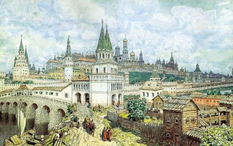 Okres rozkwitu Kremla. Most Wszystkich Świętych i Kreml pod koniec XVII wieku   Apolinary Wasnikow