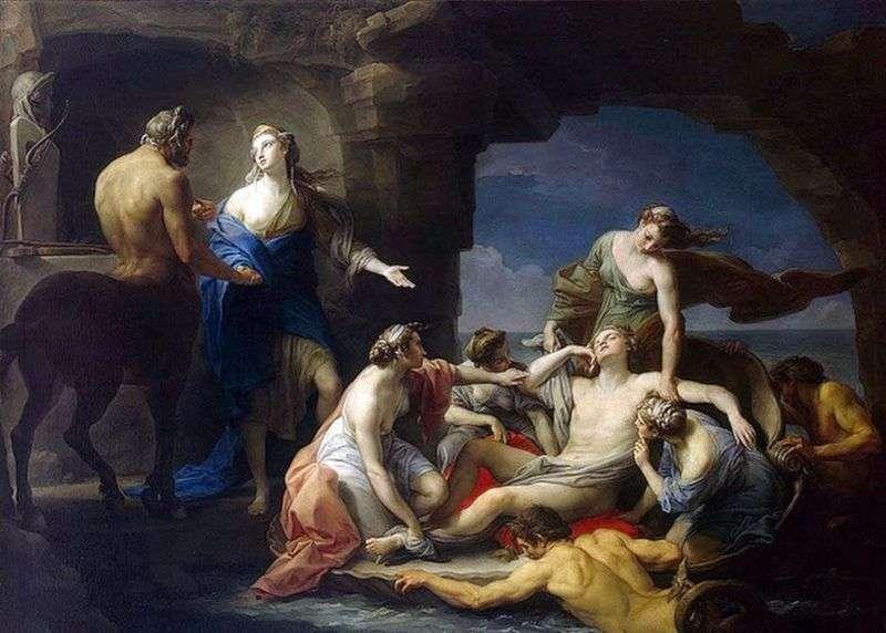 Chiron zwraca Achillesa do swojej matki Thetis   Pompeo Batoni