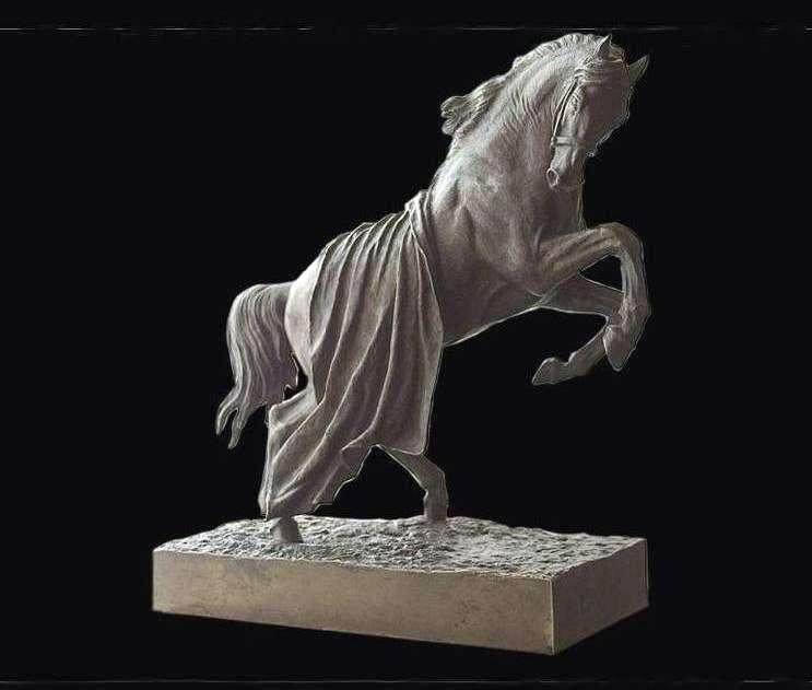 Koń pokryty koniem wychowujący się   Peter Klodt