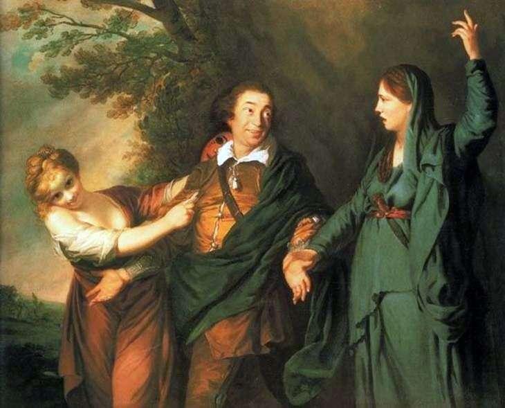 Garrick między Muzami Tragedii i Komedii   Joshua Reynolds