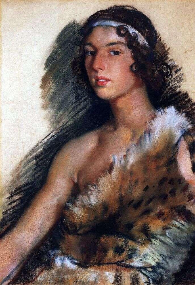 Portret G. M. Balanchivadze (J. Balanchine) w kostiumie Bachusa   Zinaida Serebryakova