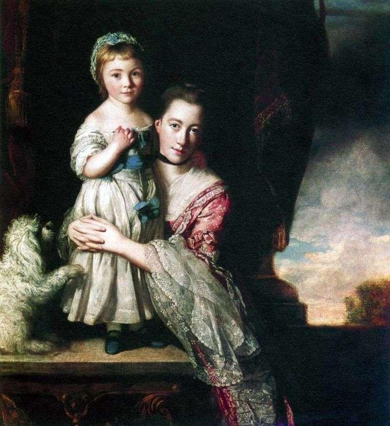 Georgiana, hrabina Spencer, z córką   Joshua Reynolds