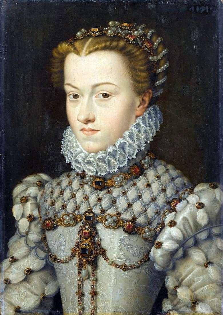 Księżniczka Elżbieta z Austrii   Francois Clouet