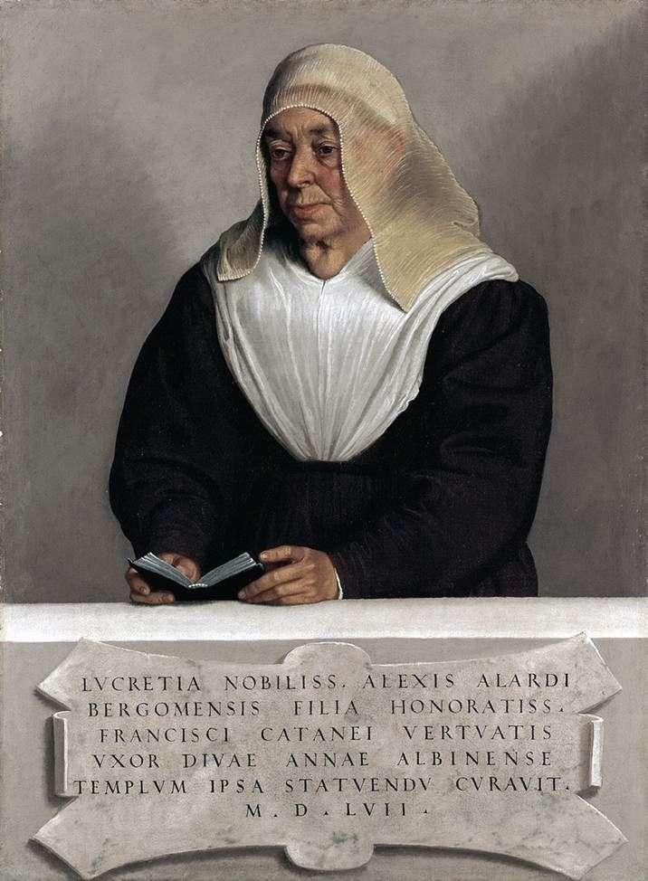 Abbess Lucretia Allardi Vertov   Giovanni Battista Moroni