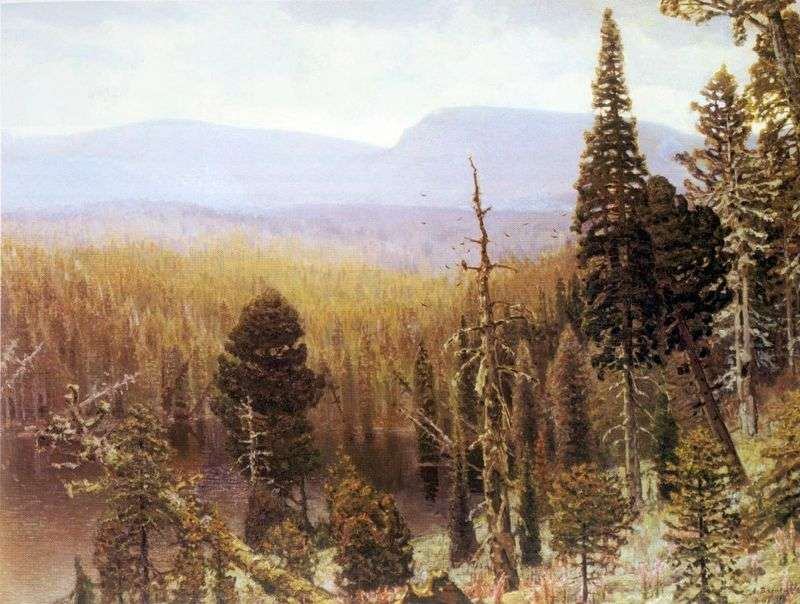 Taiga na Uralu. Blue Mountain   Apollinary Vasnetsov