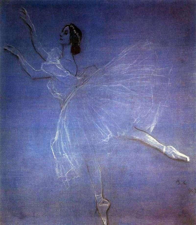 Anna Pavlova w balecie Sylphs   Valentin Serov