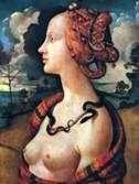 Portret Simonetty Vespucci   Piero di Cosimo