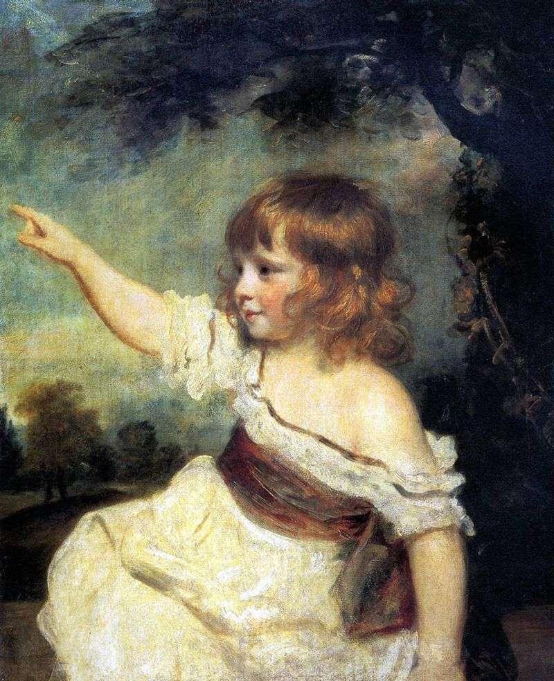 Portret Lady Jones jako dziecko   Joshua Reynolds