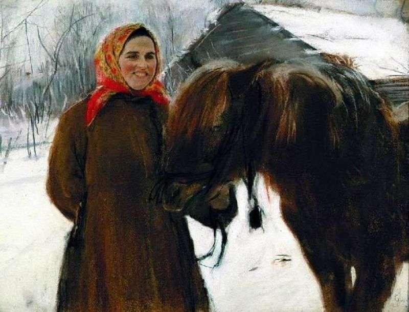 Baba z koniem   Valentin Serov