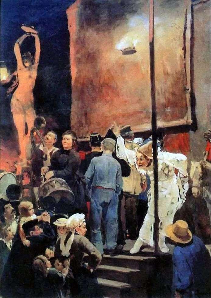 Akrobaci na wakacjach w okolicach Paryża   Victor Vasnetsov