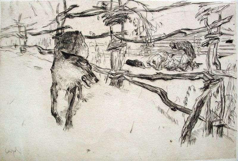 Wilk i Pasterze   Valentin Serov