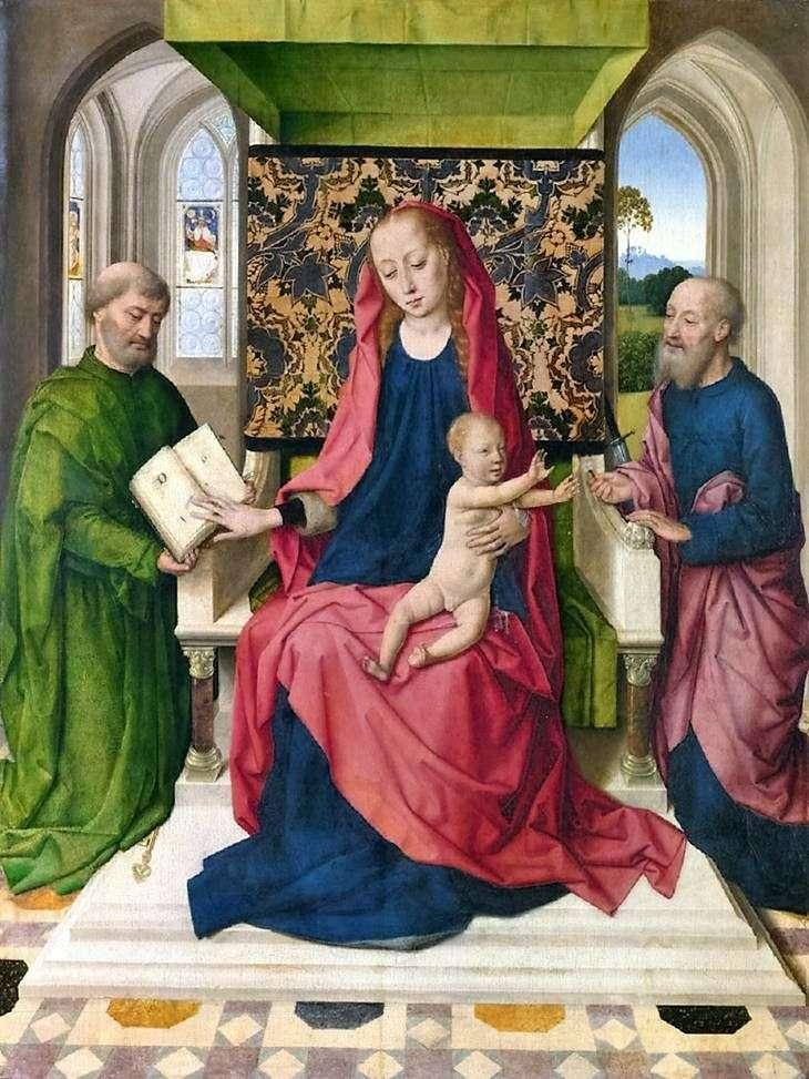 Madonna z Dzieciątkiem na tronie ze świętymi Piotrem i Pawłem   Dirk Bouts