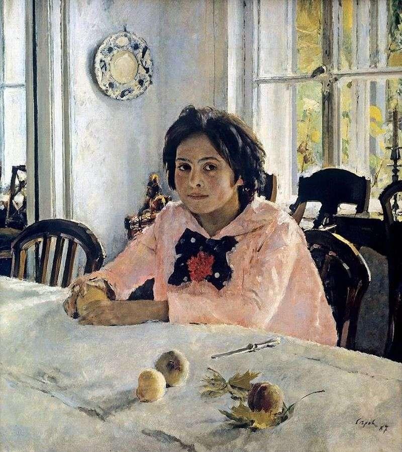 Dziewczyna z brzoskwiniami   Valentin Serov