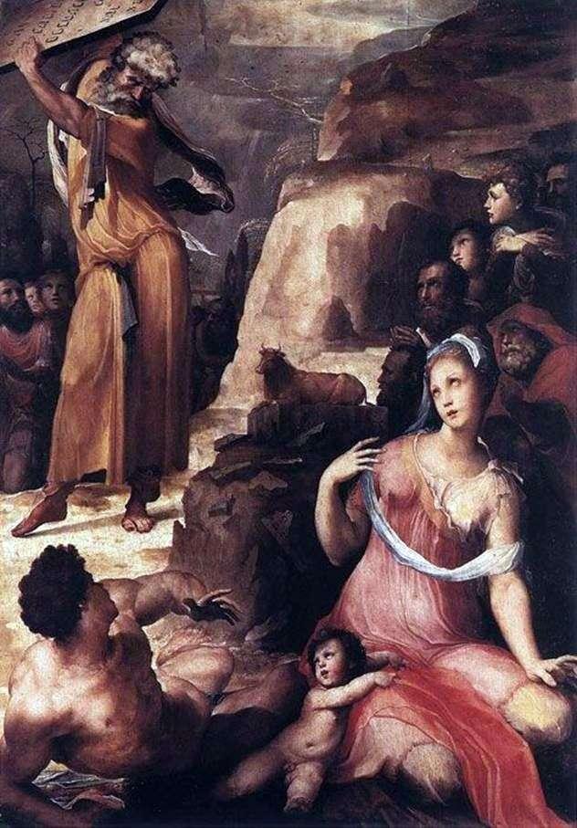Mojżesz i Złoty Cielec   Domenico Bekafumi