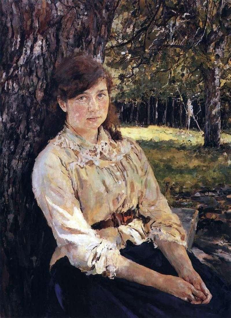 Dziewczyna oświetlona przez słońce (portret M. Ya Simonovicha)   Valentin Serov