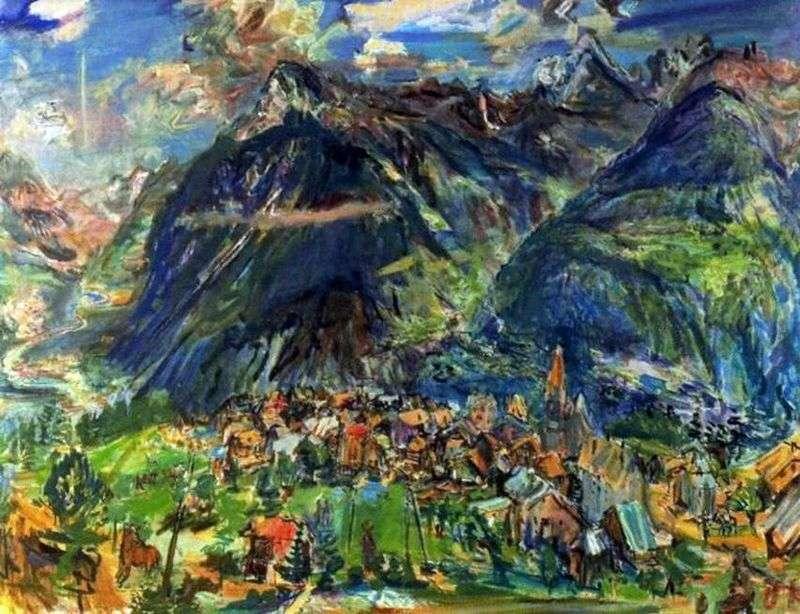 Krajobraz w Montanie   Oscar Kokoshka