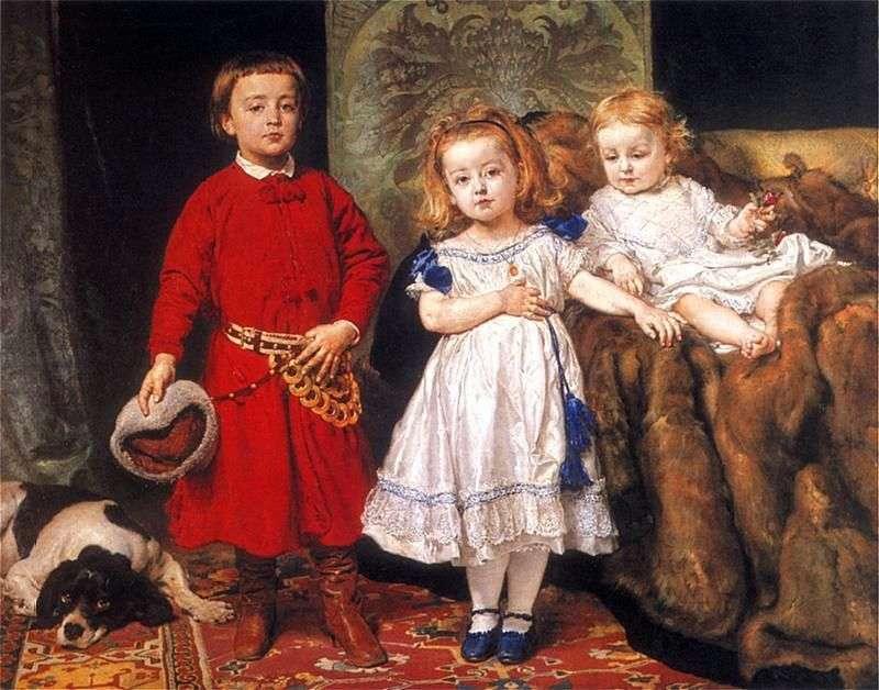 Portret trójki dzieci artysty   Jana Aloizy Mateiko