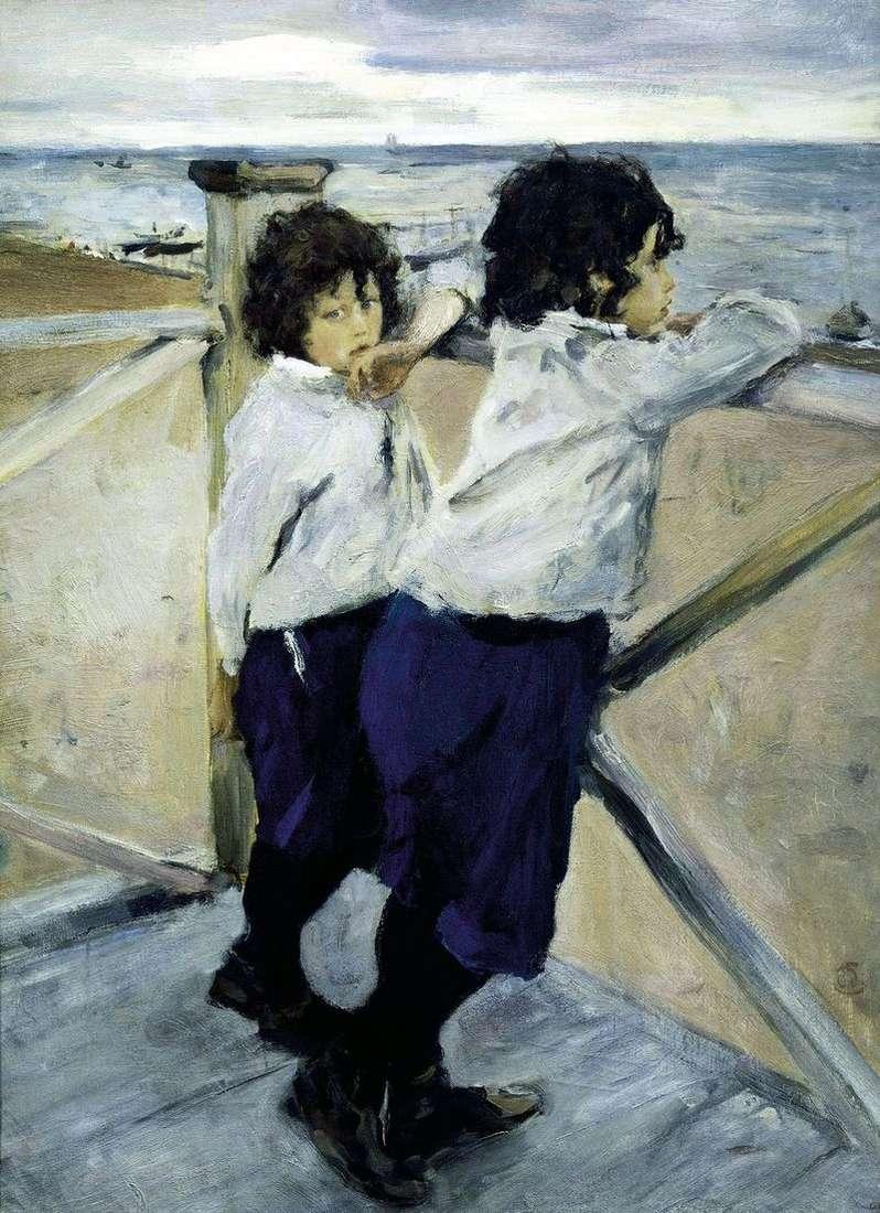 Dzieci nad morzem (Sasha i Yura Serov)   Valentin Serov
