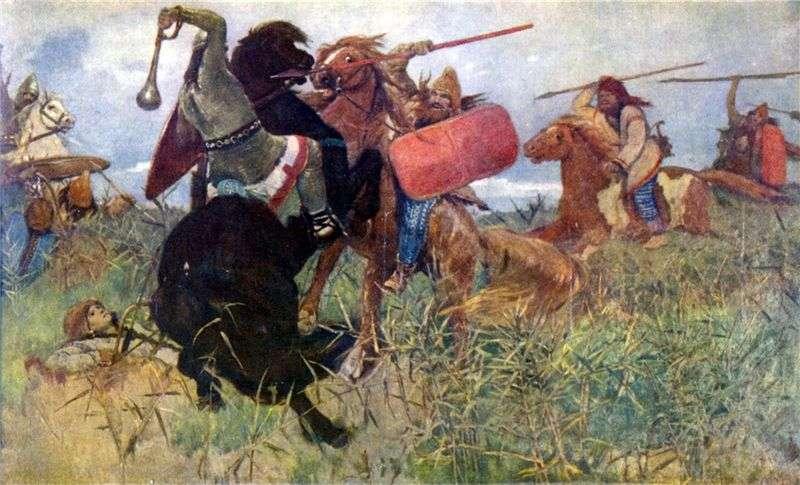 Walka Scytów ze Słowianami   Victor Vasnetsov