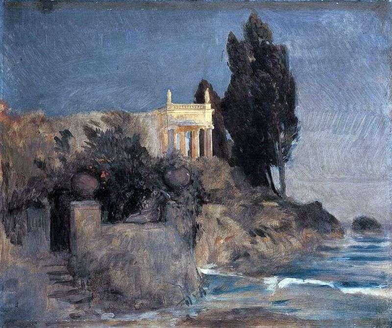 Willa z widokiem na morze   Arnold Becklin