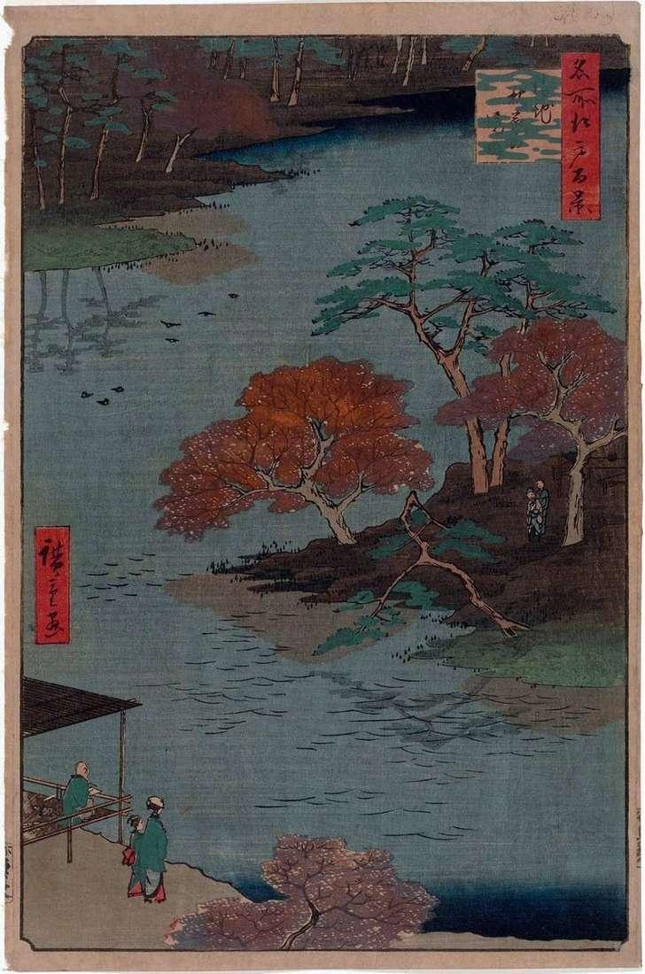 Terytorium sanktuarium Akiba w Ukati   Utagawa Hiroshige