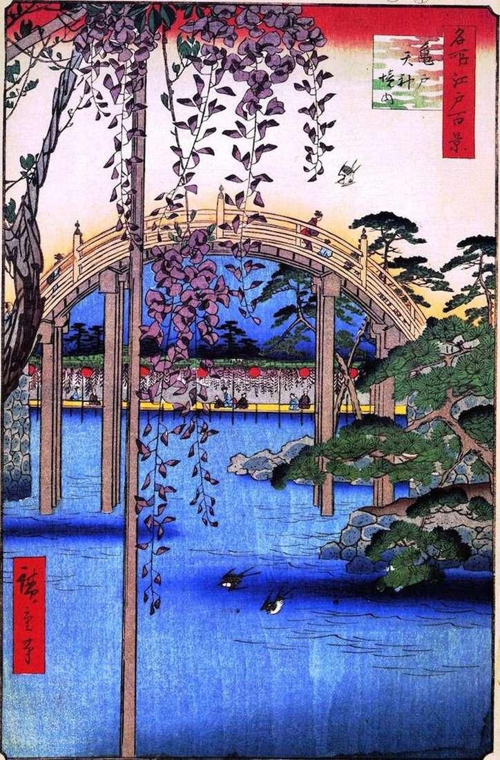Terytorium sanktuarium Tenzin w Kameido   Utagawa Hiroshige
