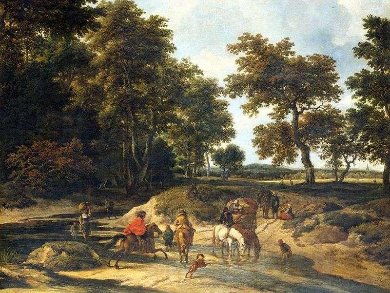 W lesie   Jacob van Ruysdal