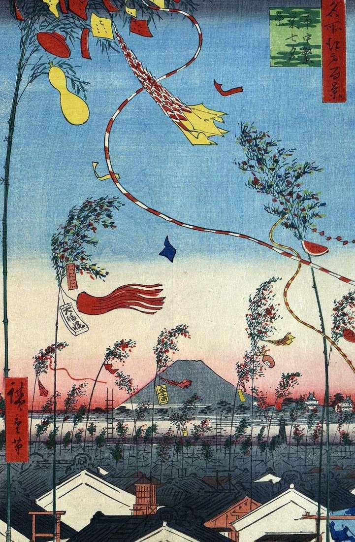 Urządzone miasto, święto Tanabata &; lt;   Utagawa Hiroshige