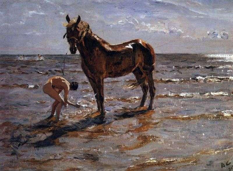 Kąpiel konna   Valentin Serov