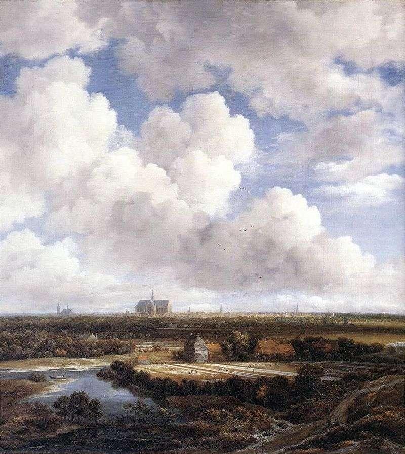 Widok z Haarlem   Jacob van Ruysdal