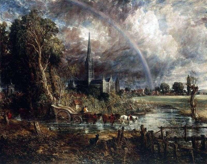 Widok na katedrę Salisbury od Meadow   John Constable