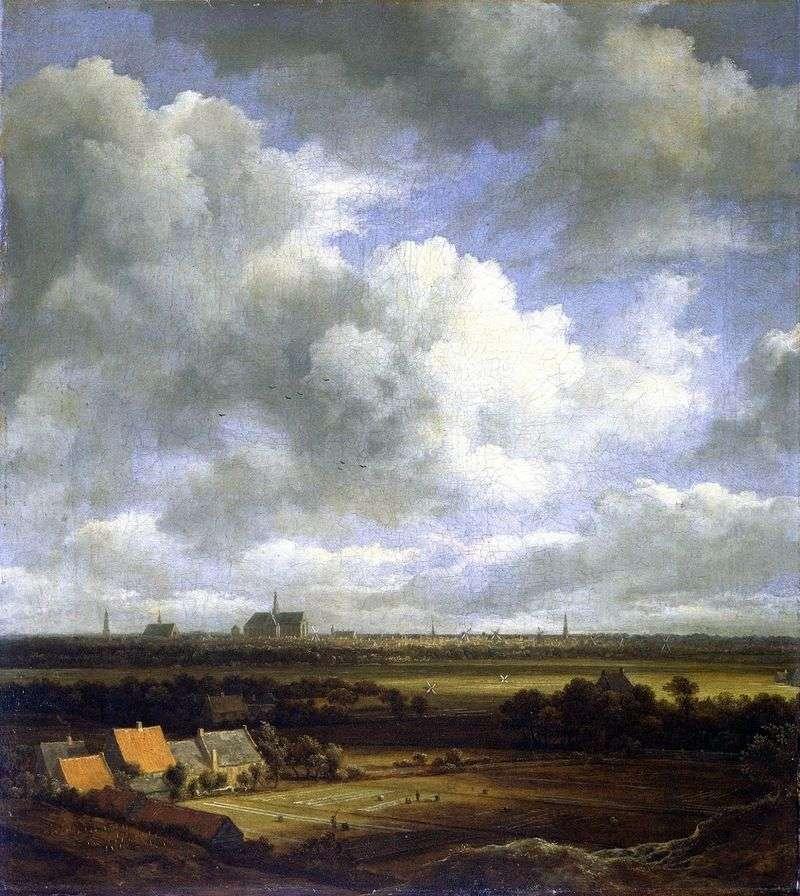 Widok na Harlem z polami   Jacob van Ruisdal