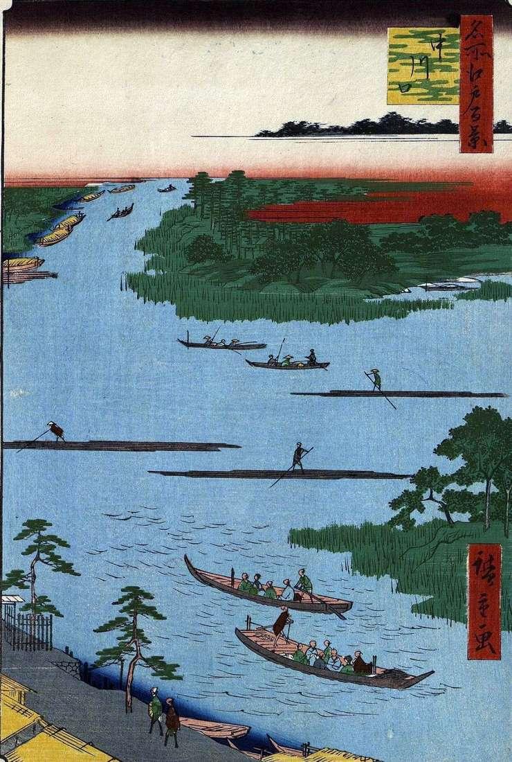 Usta rzeki Nakagawa   Utagawa Hiroshige
