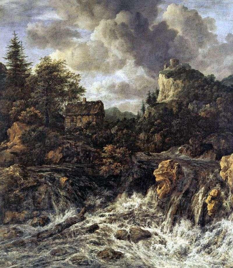 Wodospad   Jacob van Ruisdal
