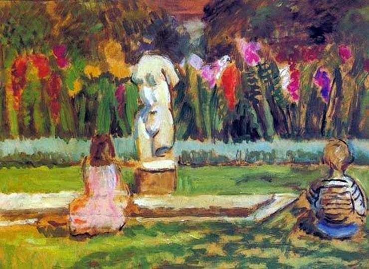 Henrietta i Julian w Charleston Garden Pond   Vanessa Bell