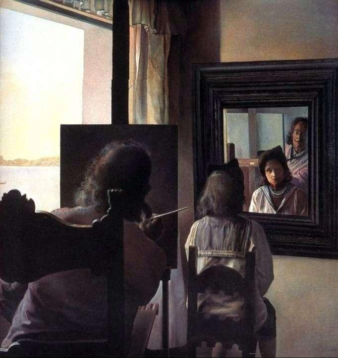Dali, odwracając się, napisał portret Gali   Salvadora Dali