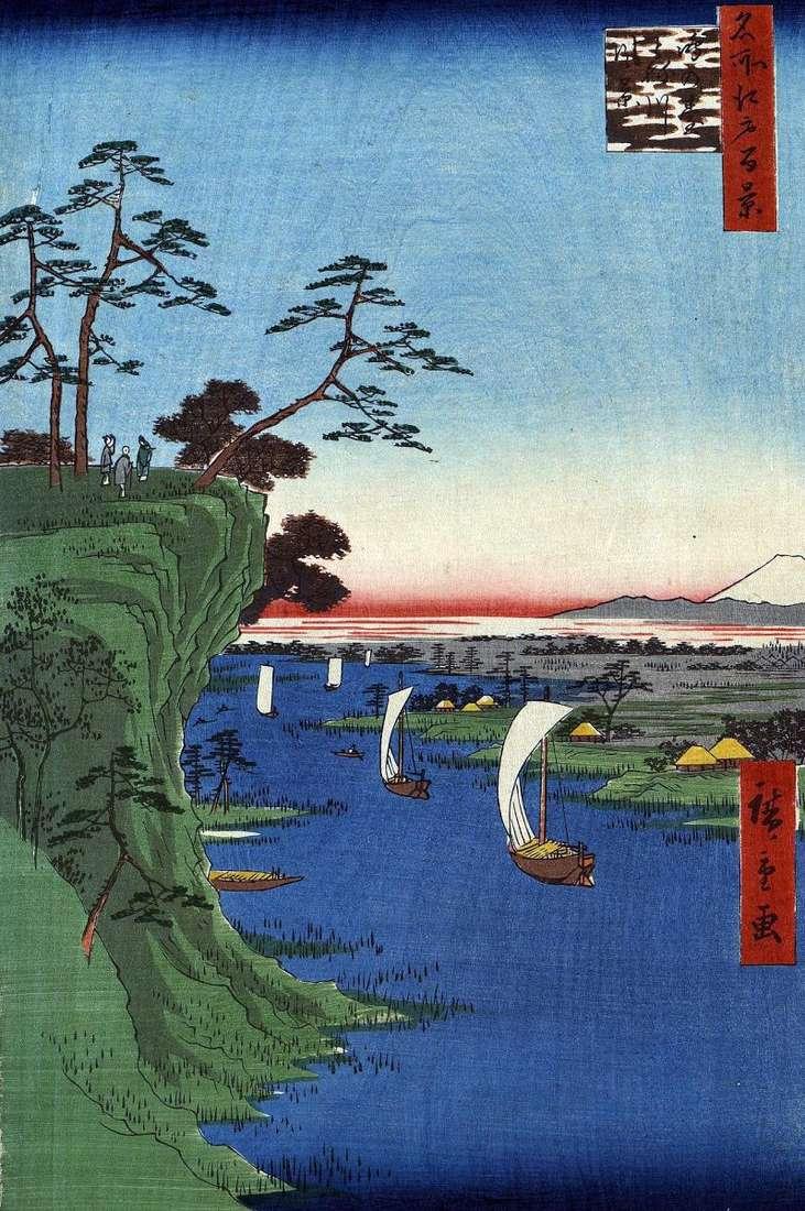 Konodai Hill, Tonegawa River   Utagawa Hiroshige